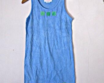 Arty Blue 10 Dress Girl's Size 10 Cotton Tie Dye
