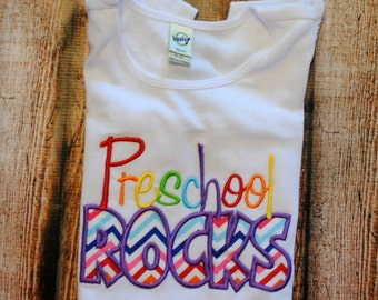 Preschool Rocks Embroidered Bodysuit or Shirt
