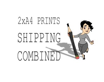 Choose 2 x A4 Art Prints, Shipping Combined, Print,  Wall Decor, Wall Art, Illustration Print, Nursery art, print 8x11.5 inch (21x29.5 cm)
