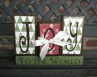 Christmas blocks- Joy to the World