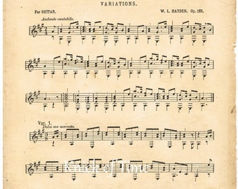 Antique Music Page - HOME SWEET HOME - Digital Download for Papercrafts, Transfers, Pillows, Scrapbooks, and more.