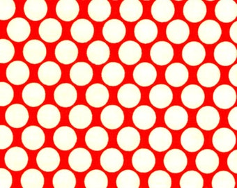 FULL MOON DOT in Cherry - Amy Butler fabric - Lotus collection - By the Yard