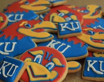 KU Jayhawk cookies