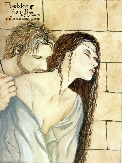 Sale Tristan And Isolde Medieval Art Print By By