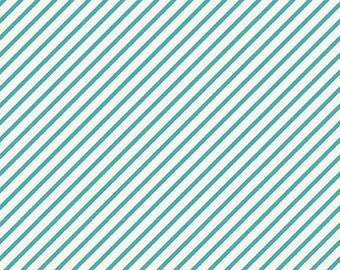 Riley Blake Unforgettable Wallpapers Blue Bias Stripe fabric by My Minds Eye