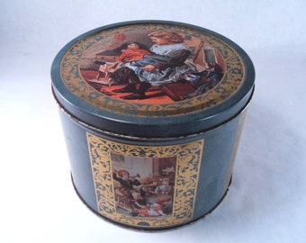 Cookie Tin Victorian Style Shabby Chic Vintage