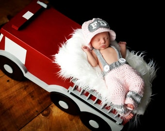 Newborn Fireman Set for Baby Girls