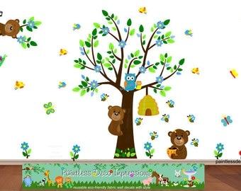 Jungle Theme Nursery Wall Decal Jungle Bedroom Art