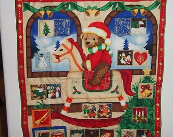 Christmas Advent Calendar - Rocking Teddy Bear