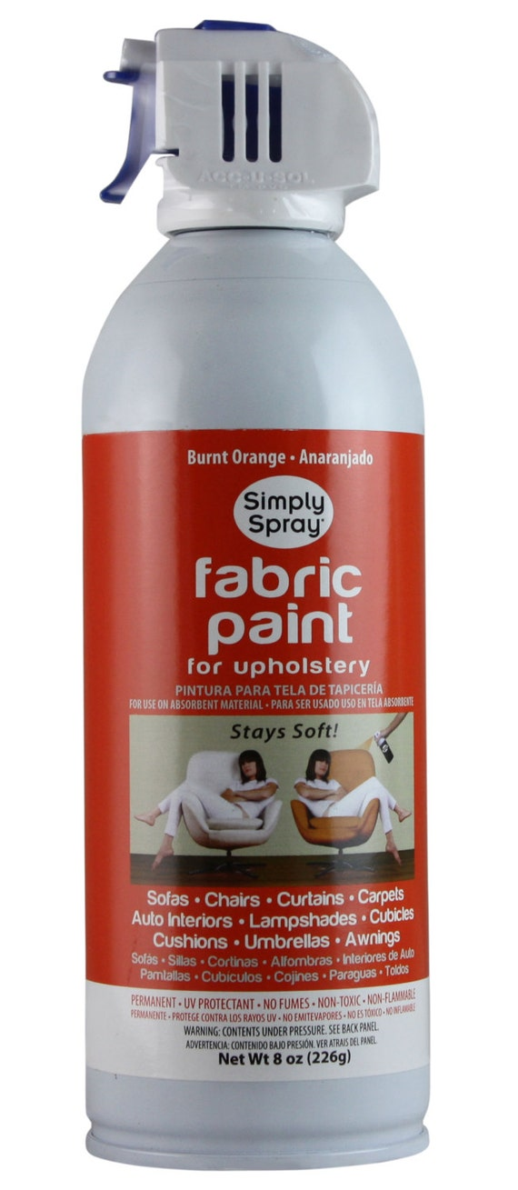 simply spray upholstery fabric spray paint dries soft permanent burnt orange 12 pack from. Black Bedroom Furniture Sets. Home Design Ideas