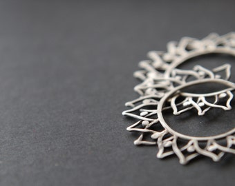 "Sterling silver filigree earrings ""Gerbera"""