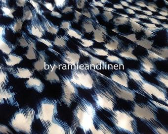"silk fabric, ikat print silk cotton blend Silk cotton satin fabric, half yard by 56"" wide"