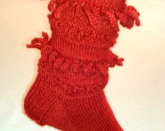 PDF Download Knitting Pattern for the Meatballs and Macaroni Socks
