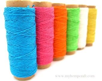 Hemp Thread, Bright Colors o.2mm Hemp Craft Embroidery Thread