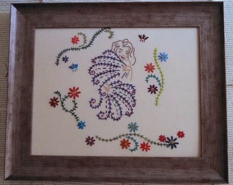 Fan Dance Embroidery