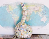 Map Paper Gift / Map Art / Map / Maps / First Anniversary Gift / First Anniversary / 1st Anniversary Gift / Paper Anniversary / Housewarming