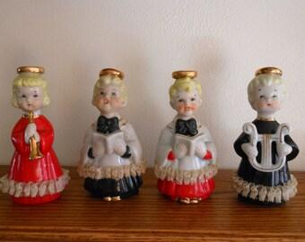 Vintage Christmas Heavenly Quartet Choir Set in Original Box