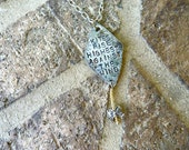 Kites Rise Highest Against the Wind, Strength, Necklace