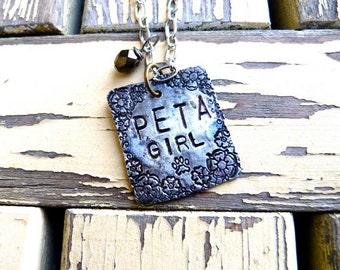 PETA girl, Animal Rights Activist, Necklace