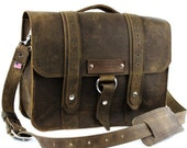"14"" Distressed Tan Newtown Voyager Laptop Bag"