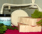 Bath Gift Set - Soaps and Body Frosting with Gift Bag and Sponge