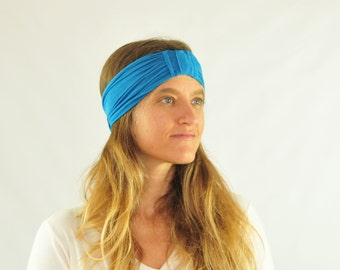 Headband - Hairband - Eco Friendly - Flapper Accessories - Ocean Blue - Costume - Organic Clothing