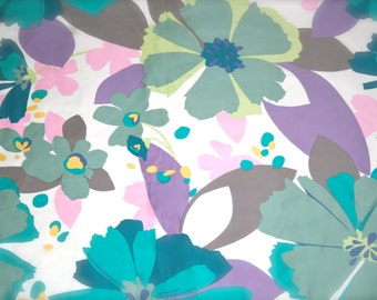 Floral Sateen Cotton by John Kaldor - 1.5m or 1 5/8 yd.