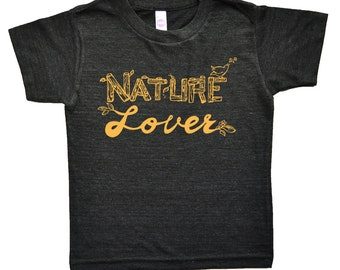 Nature Lover Kids T Shirt - Childrens Clothing - Boys Clothing - Girls Clothing - Baby & Toddler Kids Clothes - Tri blend Graphic Tee