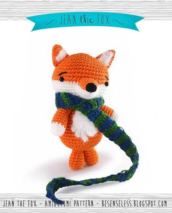 Amigurumi Fox : Items similar to jean the fox amigurumi pattern eng on