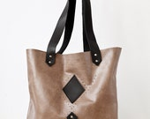 Black Detail Tote Bag No. TL- 8001