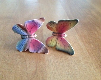 Vintage Butterfly Clips Ceramic