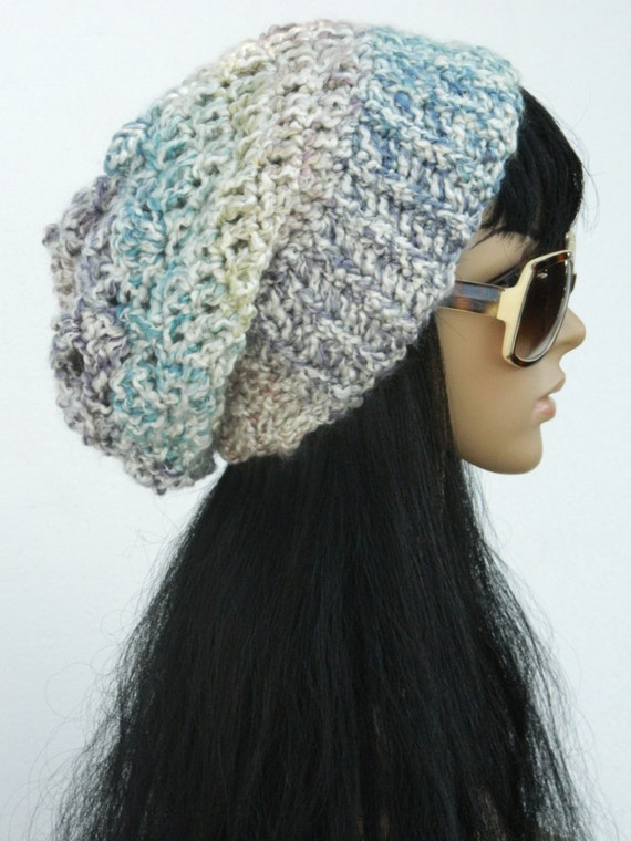 Slouchy Beanie Winter Style Beret tams Snood Beanie Headwarmers Adults Women White Purple Teal Multicolored