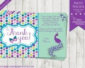 Made to Match - Pretty Peacock Thank You Card