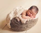 Photo Prop - Shipping February - Natural Grey Needle Felted Nest - Custom Order/Made to Order