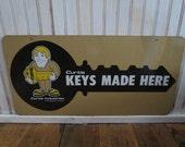 Vintage Metal Advertising Curtis Key Sign.