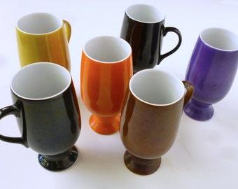 1960's MOD ceramic mini-mugs from Japan