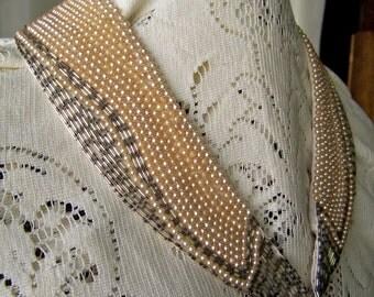 Vintage Pearl and Bead Collar Wedding Collar Ladies Beaded Collar Japan Pearls Costume Design 1950s