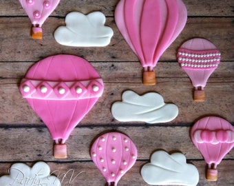 EDIBLE (Fondant Toppers) - Hot Air Balloons