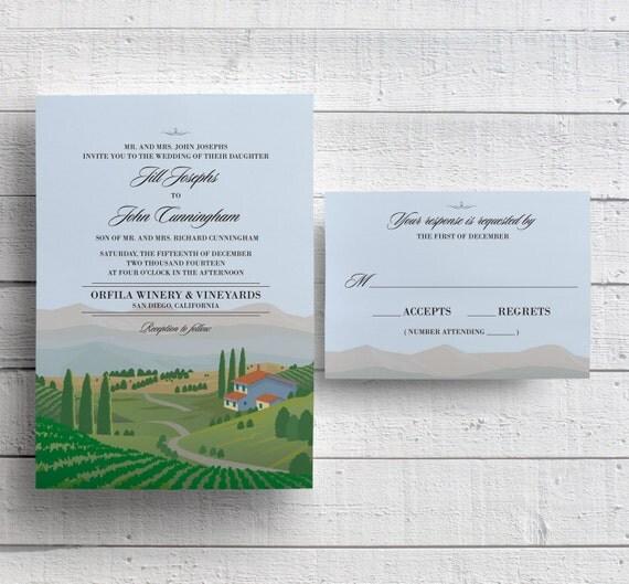 Winery Wedding Invitations: Winery Wedding Invitations Vineyard Wedding Invitations