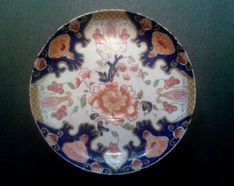 William Brownfield Porcelain Saucer Imari Colors Circa 1875