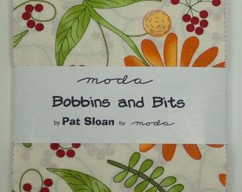 Bobbins and Bits Charm Square - Moda quilting fabric Pat Sloan