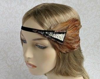 Gatsby Headpiece for Gatsby Dress, 1920s Dress Art Deco Wedding Headpiece, 1920s Headpiece, Flapper Headband, 1920s Headband