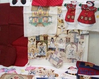 Craft Supplies, Sewing Supplies, Large Lot Of Fabric Appliques, Christmas, Country, Butterflies, Many  Many Fabric Appliques,