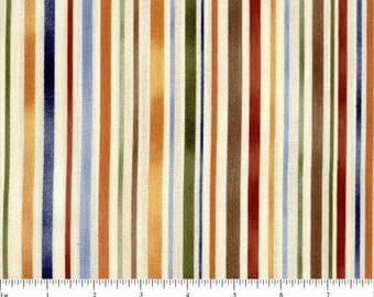 Brown Fabric Stripes Fabric Earth Tones Fabric RJR Seasons Best Stripes 3 2/3 Yards Cotton Quilting Fabric Sewing Supplies YacketUSA