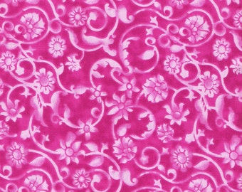 Fuchsia Fabric Dark Pink Fabric Pink on Pink Fabric Magenta Swirl Fabric Blender Fabric Cotton Quilting Fabric Sewing Supplies YacketUSA