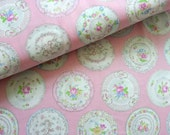Japanese Fabric Cotton Yuwa - Ornamental Dishes - a yard
