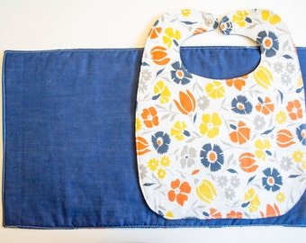 Bib and Burpie Set- Floral Print