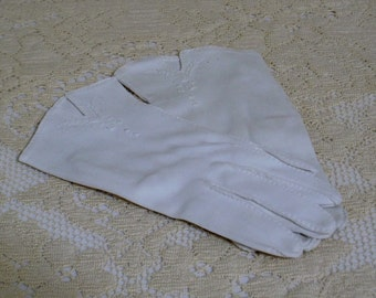 Vintage Dress White Gloves - 1950s