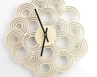 Intergrated Circle Design Clock - Modern