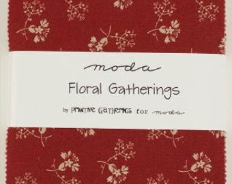 SALE Floral Gatherings Charm Pack designed by Primitive Gatherings for Moda